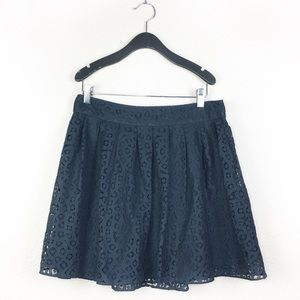Banana Republic Black Lace Skater Skirt